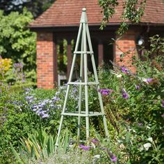 The Pyramid Obelisk is now available in Lichen Green, an attractive addition to any garden bed or border to create a stunning floral display in your garden, look great on the patio or decking too. Obelisk, Plant Supports, Green Powder, Garden Supplies, Furniture Collection, Garden Beds, Garden Projects, Garden Furniture, Garden Design