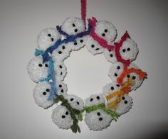 snögubbekrans Christmas Diy, Crochet Earrings, Winter, How To Make, Jewelry, Crafting, Winter Time, Jewlery, Jewerly