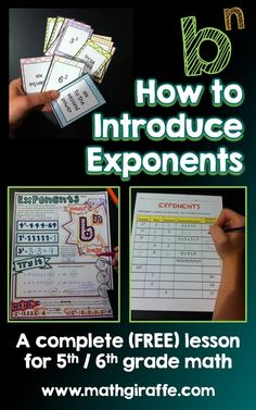 Introducing Exponents | Math Giraffe - The Math Classroom: Blog | Bloglovin'