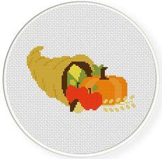 FREE Thanksgiving Cornucopia Cross Stitch Pattern