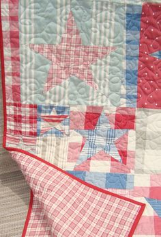Star quilt with French General wovens.