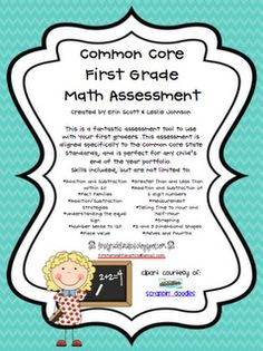 Common Core First Grade Math Assessment classroom