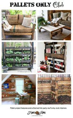 mobilier en palettes en 81 id es tr s int ressantes balan oires de palettes palettes en bois. Black Bedroom Furniture Sets. Home Design Ideas