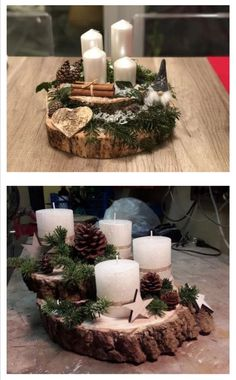 Christmas Party Centerpieces, Christmas Floral Arrangements, Christmas Decorations For The Home, Farmhouse Christmas Decor, Xmas Decorations, Christmas Pebble Art, Christmas Candle, Rustic Christmas, Christmas Wreaths