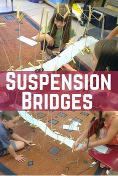 How To Produce Elementary School Much More Enjoyment The Mission: Build A Suspension Bridge For A Car To Cross The Ravine Stem Science, Science Fair, Science Education, Science For Kids, Physical Science, Science Classroom, Earth Science, Steam Activities, Science Activities