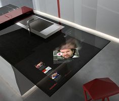 High-Tech Kitchen Design With Integrated Samsung Galaxy Tablet   Pursuitist