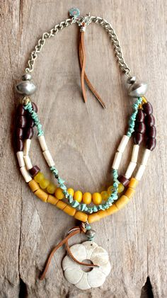 Bohemian Gypsy necklace in Yellow Jade Brown by DazzlingGypsyQueen