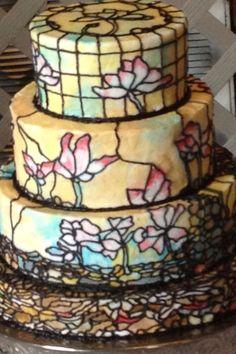Beautiful, unique wedding cake.