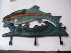 Rusty Trout rustic fish metal by rustyitems on Etsy, $18.00