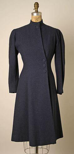 Coat  Designer: Valentina Date: ca. 1939 Culture: American Medium: wool, silk Accession Number: 1995.28.22
