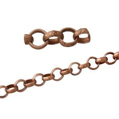"US $4.59 - SJ 5M Links-Opened Round Rolo Chains Antique Copper Tone Necklace DIY 6mm( 2/8"") - from seller 8seasons-jewelry on Ebay.com"