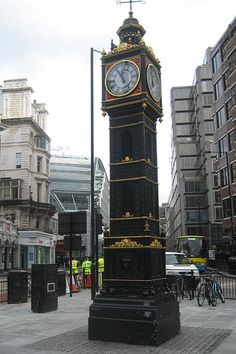 Little Ben Clock Tower, Victoria Street, close to the approach to Victoria station, London. In design it mimics the famous clock tower known as Big Ben.