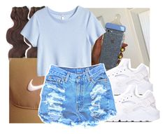 """Me Collection Up"" by canttrustthots ❤ liked on Polyvore featuring &K, H&M and NIKE"