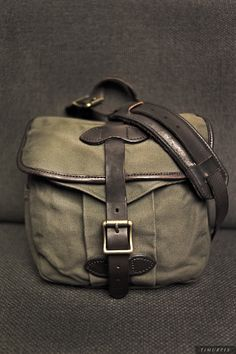 FILSON Small Field Bag. Best with small bins and notebook! No longer avail in this colorway, sadly