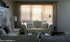 Drop Cloth Curtains for the Living Room   Small Update - http://akadesign.ca/drop-cloth-curtains-living-room-small-update/