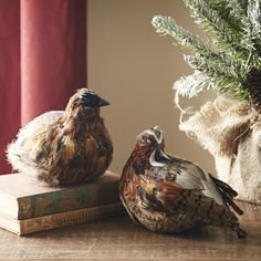 Partridge Decor   Bring these endearing partridges home for the holidays. Each makes a charming accent on its own or paired with its match. Set of two.