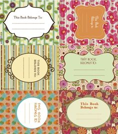 printable book lables (need these for my new library!)