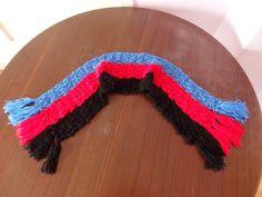 Polyamory Pride Flag Crochet Scarf by DigenisFashionShop on Etsy