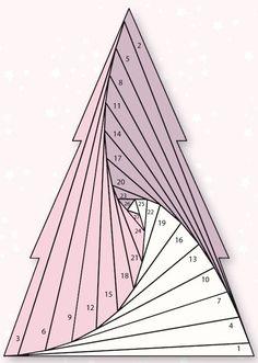 Iris folded Christmas tree: