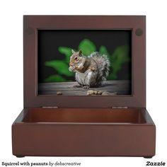 Squirrel with peanuts keepsake boxes