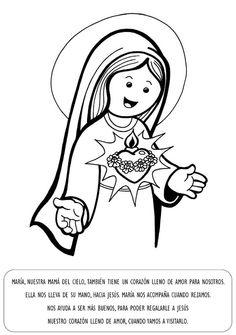 VIRGEN MARÍA, RUEGA POR NOSOTROS : VIRGEN MARIA - PARA COLOREAR