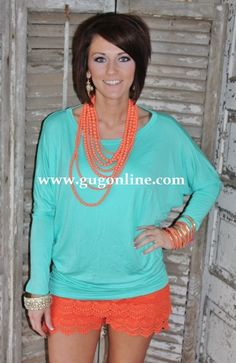 Giddy Up Glamour  $23.95  A Spot To Snuggle Mint Slouchy Top