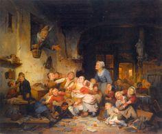 Ferdinand de Braekeleer the Elder (1792-1883) - The Village School