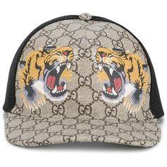 5feee012a45 Gucci tigers print GG supreme baseball cap