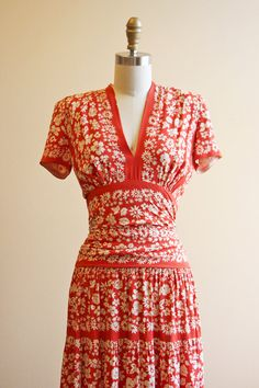 1940's Maxi Dress