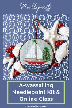 A Bestselling Needlepoint Kit & Online Class! We love this adorable festive ornament 🎄 Christmas Car, Little Christmas, Christmas Ornaments, Needlepoint Kits, Needlepoint Canvases, Flamingo Painting, Monogram Pillows, Hanging Signs, Festive