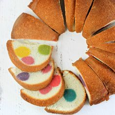 This Surprise-Inside Dotty Cake is SO easy and really will bring a smile to everyone's face when you slice it open. Try making a surprise-inside cake today!