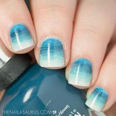 Ombre Nail Art Designs, Nail Art isn't simply your typical nail job. Nail art is associate degree exclusive niche that's gaining quality in late times. Nail Art Designs, Ombre Nail Designs, Uk Nails, Hair And Nails, American Nails, Nail Art Blog, Beach Nails, Gradient Nails, Halloween Nail Art