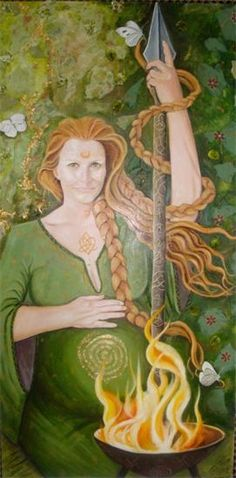 Looking forward to Imbolc!  Portrait of Brighid by Jo Jayson. Love it.