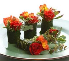 Sushi flowers! Total love love!