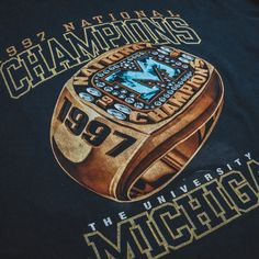 """How """"Mediocre"""" Michigan won the 1997 National Championship Vintage Clothing, Vintage Outfits, National Championship, Best Player, Michigan"""