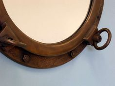 Bronzed Porthole Mirror 20 Nautical Wall by NauticalBeachDecor