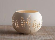 Porcelain Tea light Delight - Candle Holder N.8. Design by Wapa Studio.. $40.00, via Etsy.