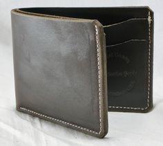 Handmade leather wallet - brown horween chromexcel billfold. $59.00, via Etsy.