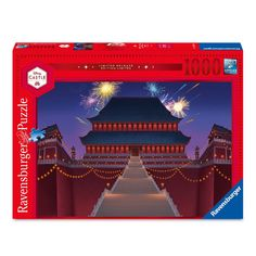 Mulan brings honor to our Disney Castle Collection with a limited release puzzle featuring a twilight image of the Emperor's Palace. This 1,000-piece premium puzzle by Ravensburger features Softclick Technology to create a peaceful passtime of mindful reflection.