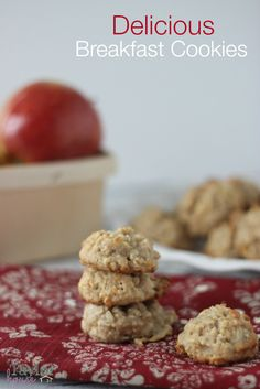 Breakfast Recipes, Breakfast Cookies, Oatmeal Cookies, Oatmeal Breakfast Cookies