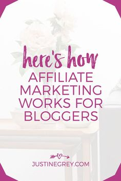 If you heard affiliate marketing is a great way to monetize your content, but aren't sure how affiliate marketing works exactly, this post will explain! Marketing Words, Marketing Plan, Affiliate Marketing, Media Marketing, Digital Marketing, Business Tips, Online Business, Make Money Blogging, Blog Tips