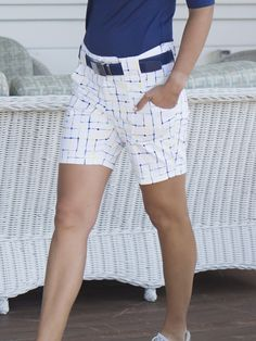 Check out what #lorisgolfshoppe has for your days on and off the golf course: Limoncello (Limoncello Check) JoFit Ladies Belted Golf Shorts