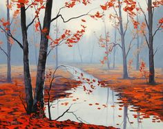 Calm autumn day - Beautiful Landscape Paintings by Graham Gercken  <3 <3