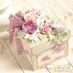 Exploding box - urodzinowe pudełeczko z torcikiem; polandhandmade.pl #polandhandmade , #scrapbooking , #explodingbox