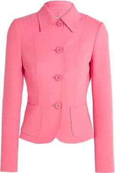 Pink stretch-wool Button fastenings through front 96% virgin wool, 4% spandex Dry clean Designer color: Flamingo Made in Italy