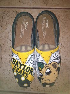 Hand-painted Baylor Toms. #SicEm!