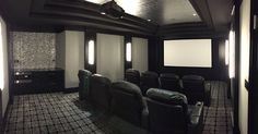 Home theater acoustics and fabric by Acoustic Finishes. Southampton NY