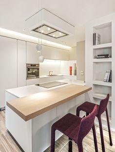 #Cucina modello #Artex di #Varenna @poliformvarenna - #sgabelli e sedie #Joko di #Bartoli #design @kristaliadesign