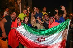 #Iran cheers #WorldCup soccer squad despite loss to Argentina  #Iranians celebrate in #Tehran after the national soccer team played well against powerhouse Argentina during the World Cup tournament in #Brazil. Iran lost the match, but fans lauded the team for its mettle.