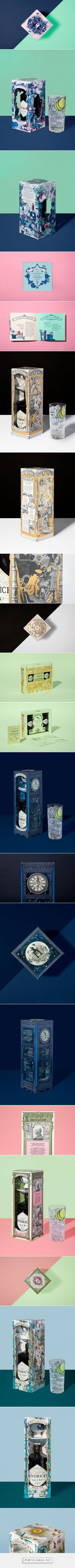 Hendrick's Gin Gift Box design by Here Design - https://www.packagingoftheworld.com/2018/02/hendricks-gin-gift-box.html